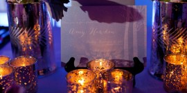 Exquisite Weddings Magazine Fall Launch Party: Winter Bridal Shower Tabletop