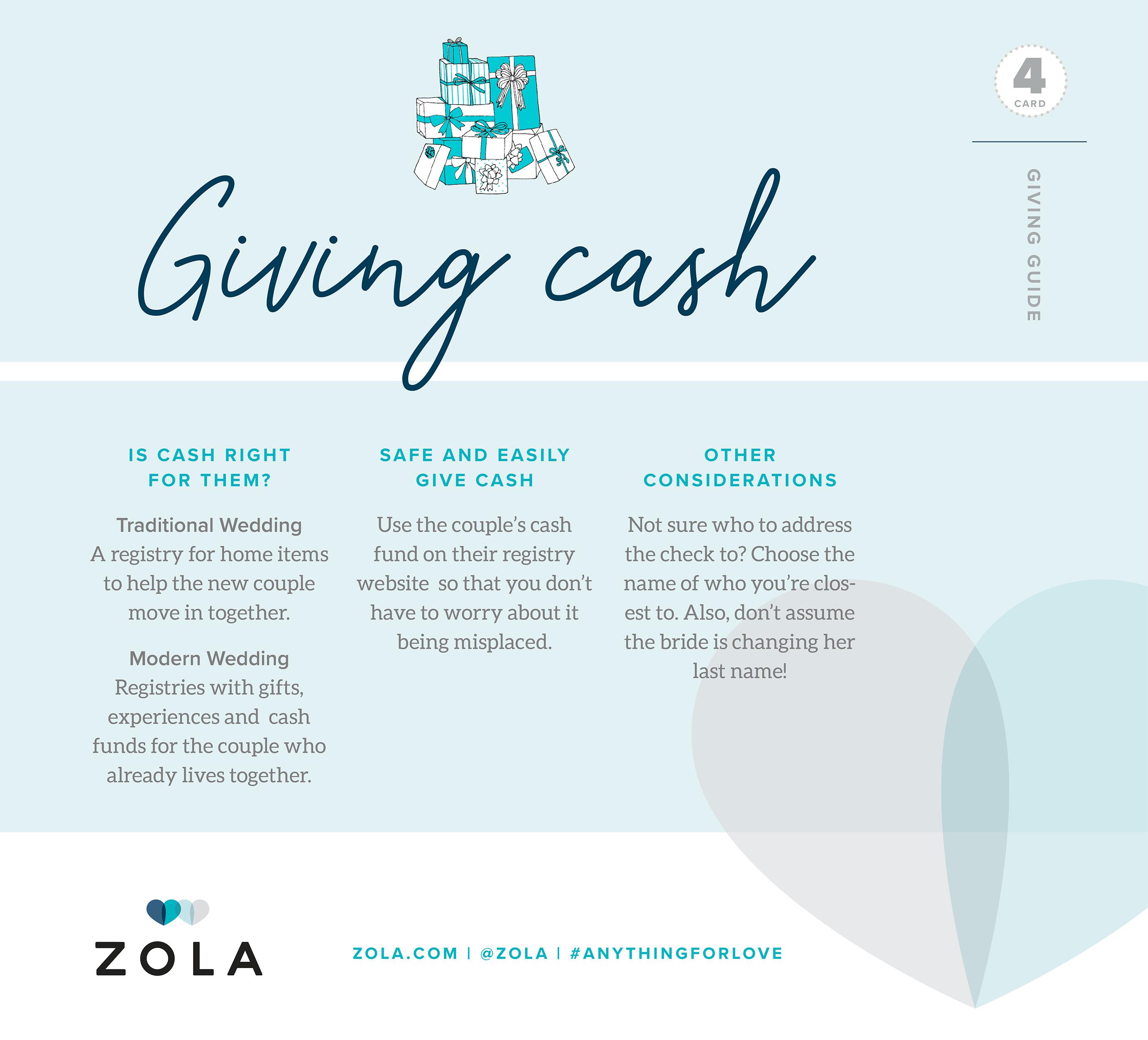 Cash Wedding Registry.Wedding Gifting 101 Advice From Zola San Diego Wedding Planner
